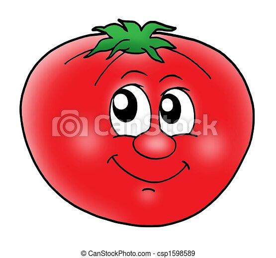 Smiling tomato - csp1598589