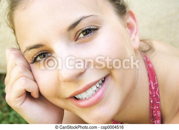 Smiling Woman - csp0004516