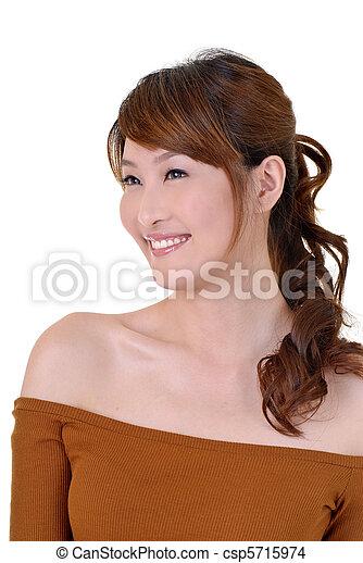Smiling woman - csp5715974