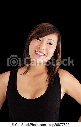 Smiling Young Asian   Portrait Attracitve - csp20877892