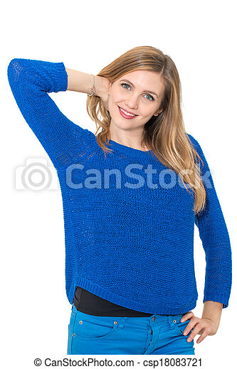smiling young attractive woman portrait - csp18083721