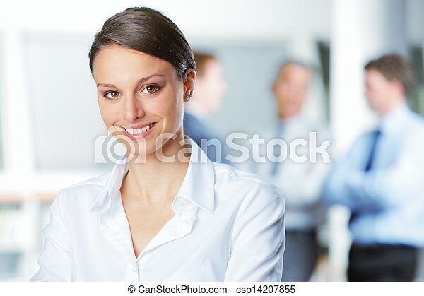 Smiling young business woman - csp14207855
