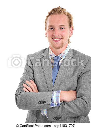 Smiling young businessman  - csp11831707