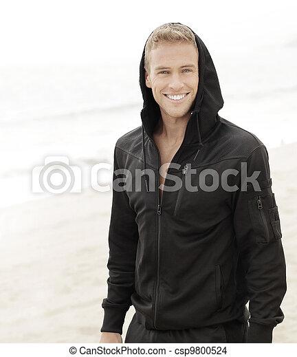 Smiling young man - csp9800524
