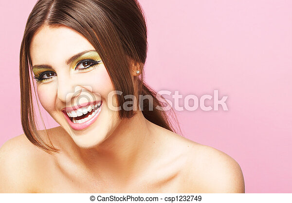 Smiling Young Woman - csp1232749
