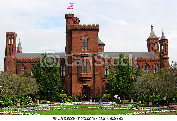 Smithsonian Castle, Washington DC - csp18909793