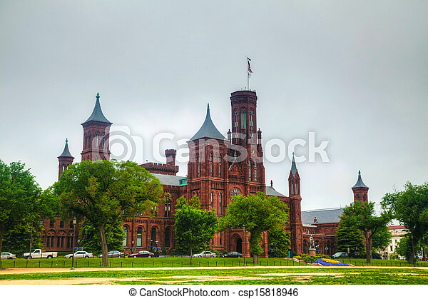 Smithsonian Institution Building (the Castle) in Washington, DC - csp15818946