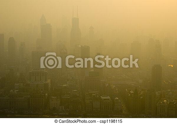 smoggy, shanghai - csp1198115