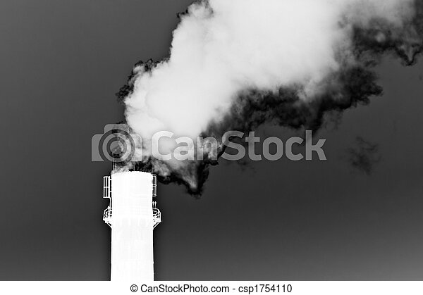 Smoke from a pipe. Inverted - csp1754110