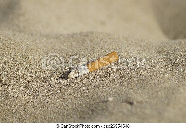 smoke on the beach - csp26354548