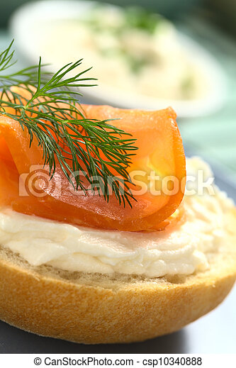 Smoked Salmon Canape - csp10340888