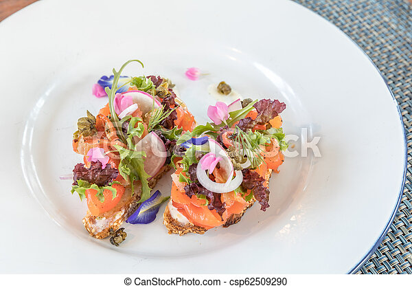smoked salmon Canape - csp62509290