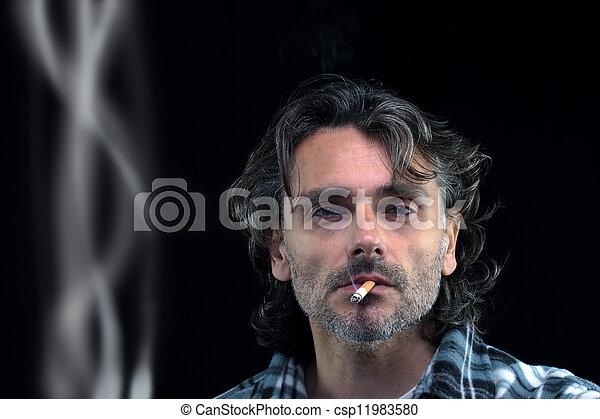 smoker man - csp11983580