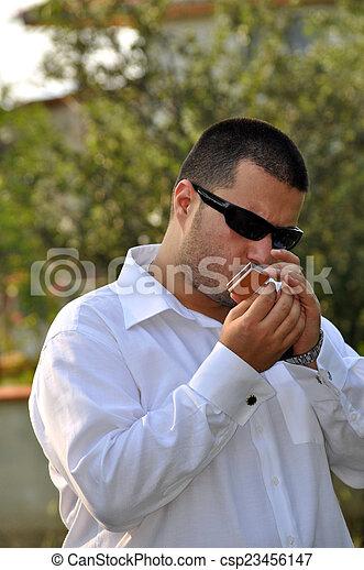 Smoker man - csp23456147