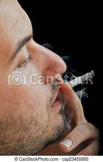 Smoker man - csp23455893