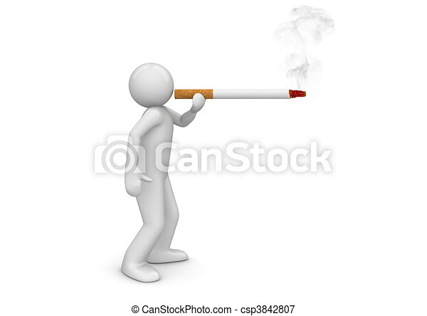 Smoker puffing cigarette - Lifestyle collection - csp3842807