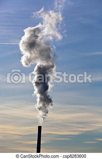 smoking chimneys of a factory - csp8283600