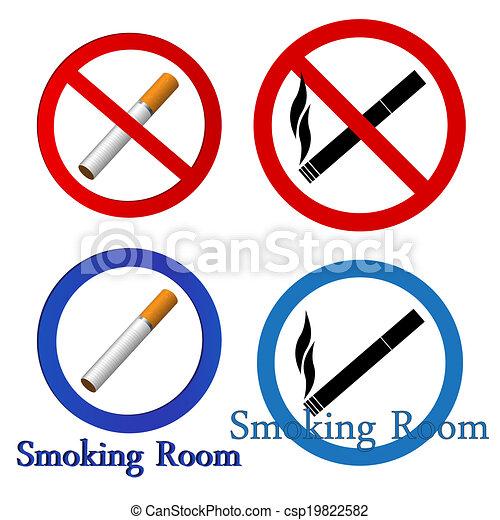 Smoking icons set - csp19822582