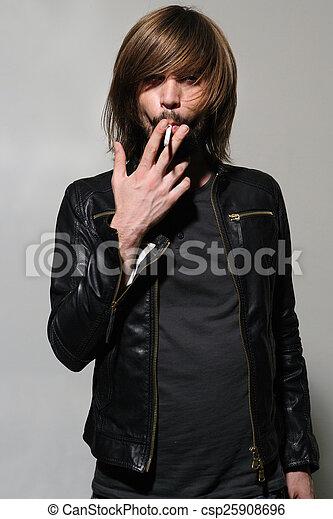 Smoking man - csp25908696