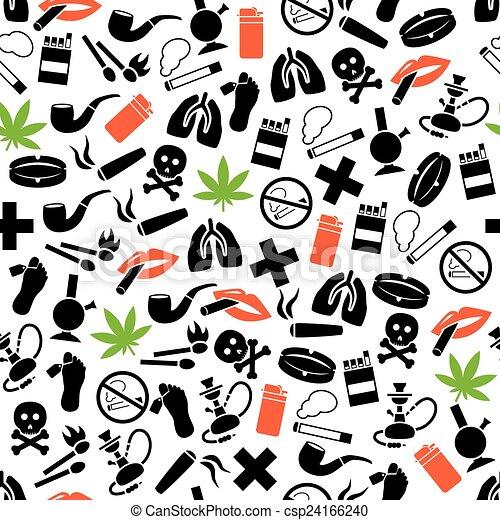 smoking seamless pattern - csp24166240