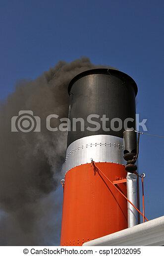 Smoking Ship chimney - csp12032095