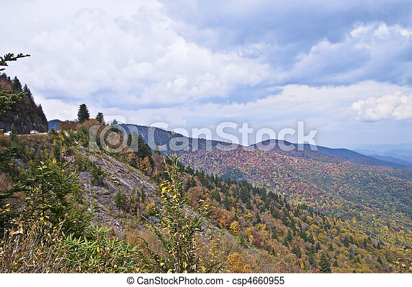 Smoky Mountains in Early Autumn - csp4660955