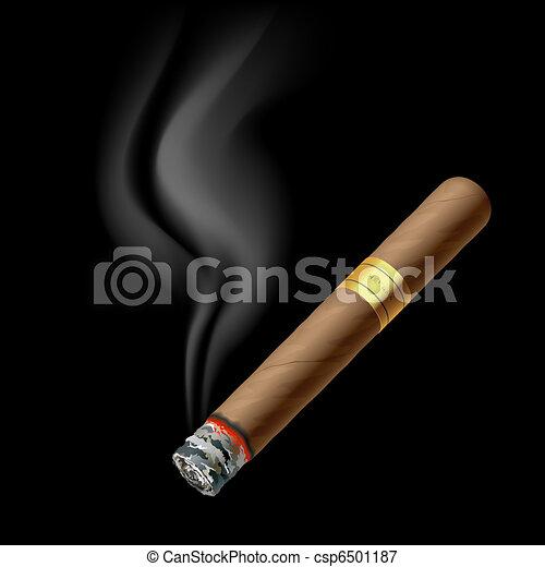 Smoldering cigar - csp6501187
