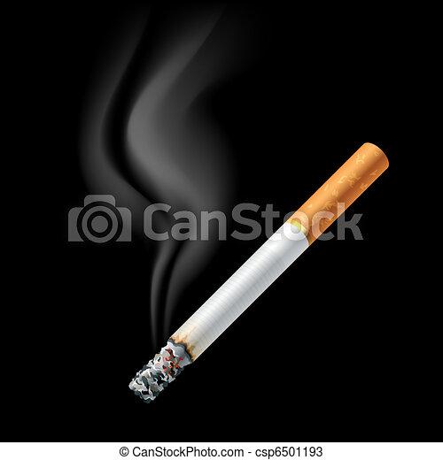 Smoldering cigarette - csp6501193