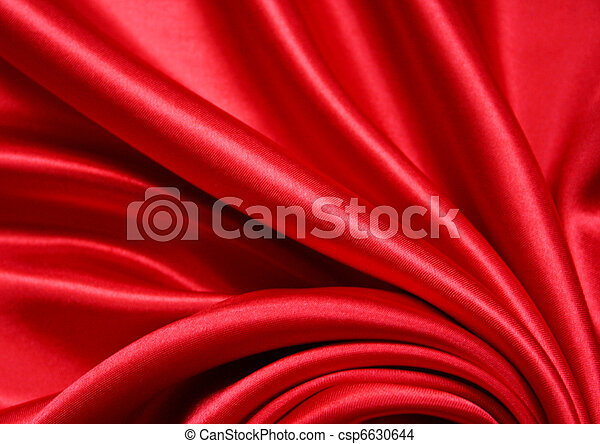 Smooth Red Silk as background  - csp6630644