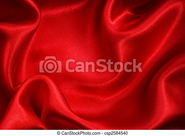 Smooth Red Silk as background  - csp2584540