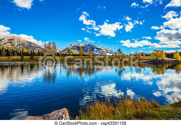 Smooth water of the lake - csp43391158