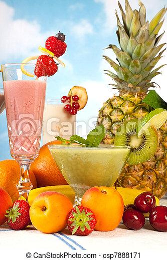 smoothie, été, fête - csp7888171