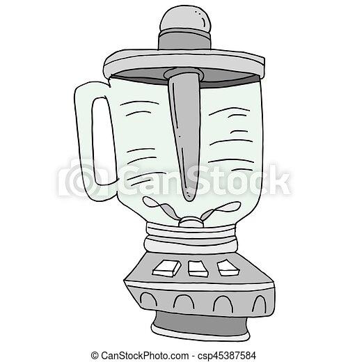 Smoothie Blender Drawing - csp45387584