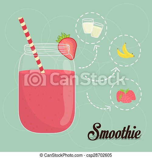 smoothie, design. - csp28702605
