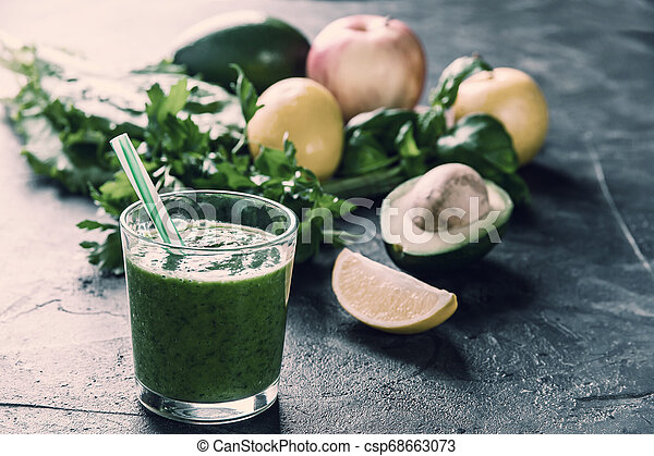 Smoothie from fruit and vegetables - csp68663073