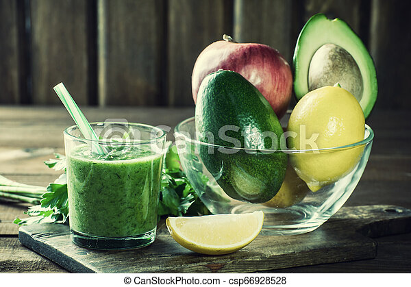 Smoothie from fruit and vegetables - csp66928528