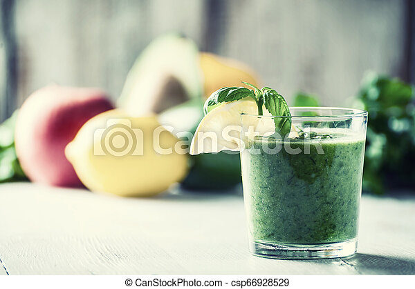 Smoothie from fruit and vegetables - csp66928529
