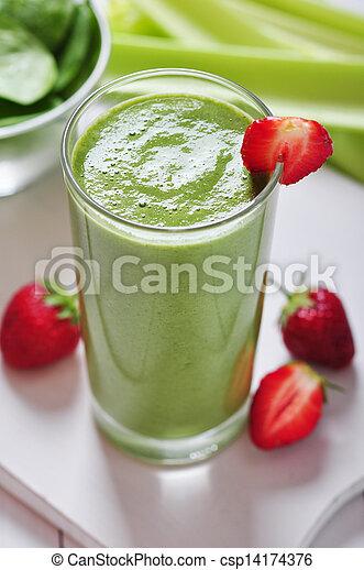 smoothie légume, vert - csp14174376