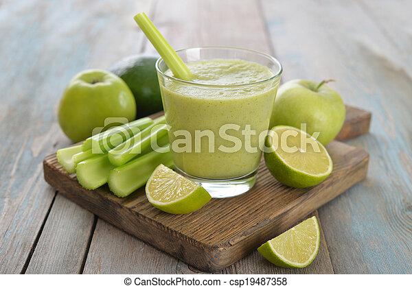 smoothie, vert - csp19487358