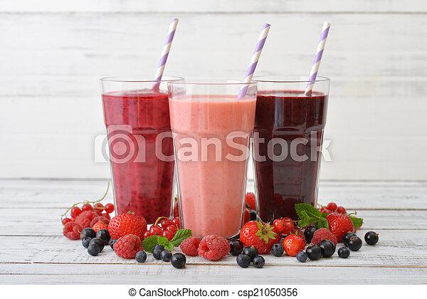 smoothies, baies, différent - csp21050356