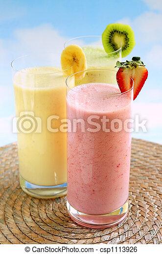smoothies, fruit, assorti - csp1113926