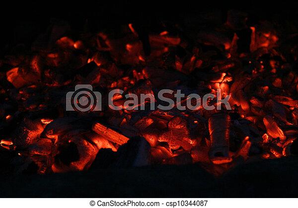 smoulder, textuur, houtskool - csp10344087