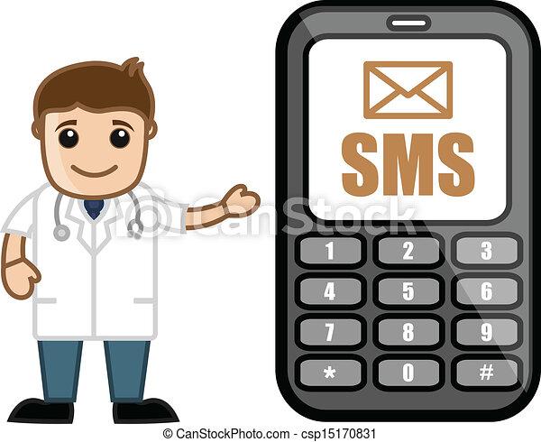 Sms Alert - Doctor & Medical - csp15170831