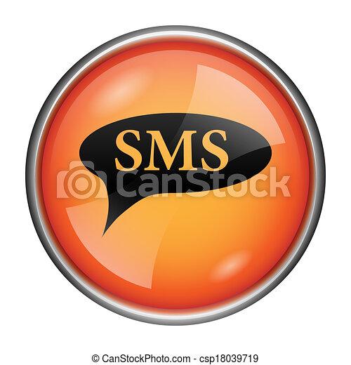 Icono burbuja SMS - csp18039719