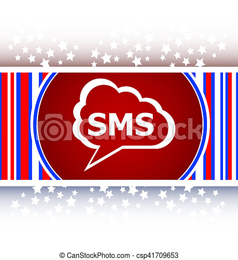sms glossy web icon - csp41709653