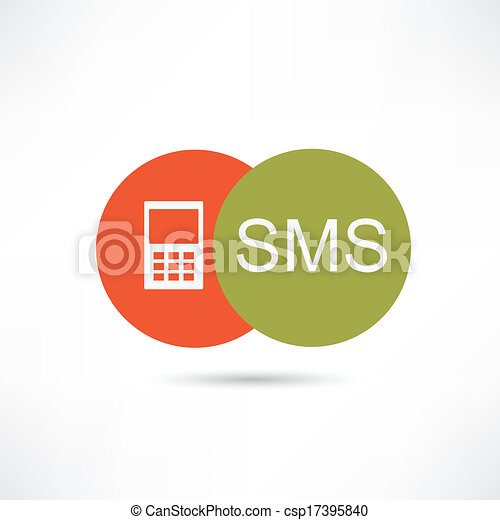 Sms icono - csp17395840