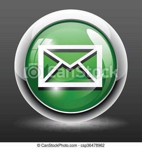 sms square web glossy icon - csp36478962