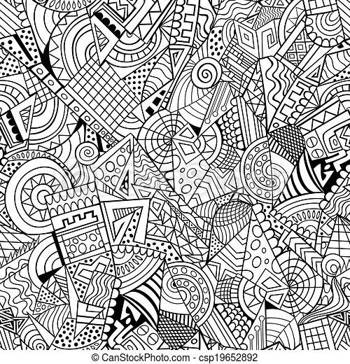smyckad mönster, geometrisk, abstrakt - csp19652892