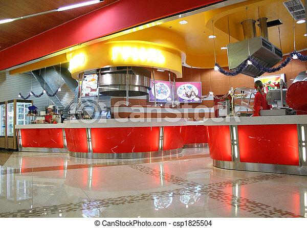 snack bar interior - csp1825504