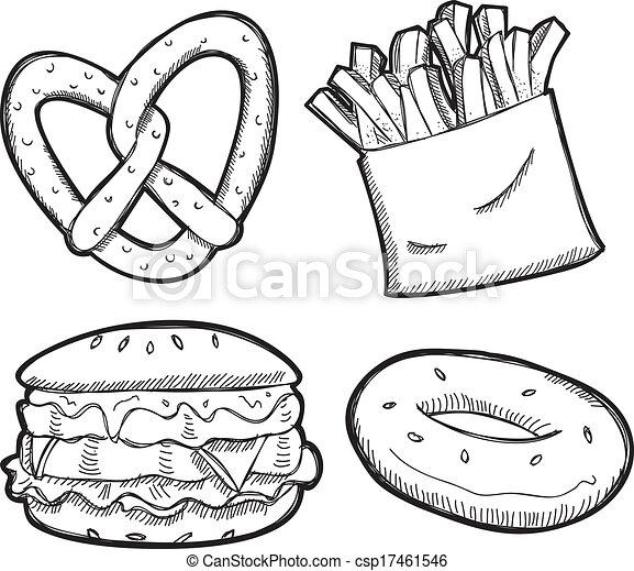 snack doodle - csp17461546